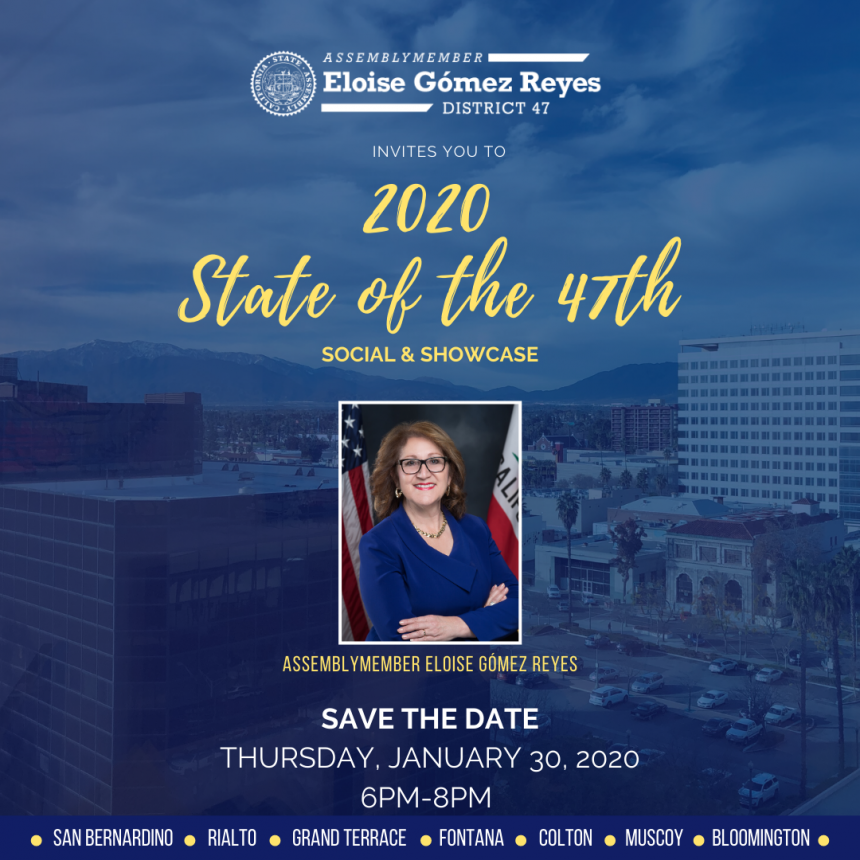 Save The Date! 2020 State of the 47th Thursday, January 30 at 6pm