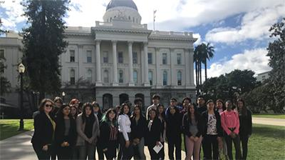 Young Legislators infront of the capitol