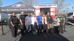 Assemblymember Eloise Reyes with community members