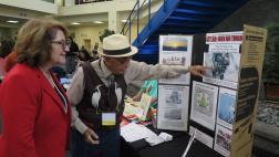 Assemblymember Eloise Reyes with community member.