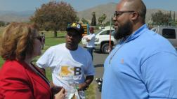 Assemblymember with community member
