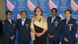 Assemblymember meeting with military women.