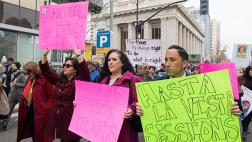 Reyes, Gonzalez Fletcher, Gloria, and Carrillo at Sacramentans United for Immigrants & Against Sessions Rally