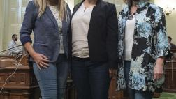 Majority Leader celebrates Denim Day with Assemblymembers Waldron and Cristina Garcia